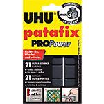 Pastilles adhésives UHU Patafix PROPower Noir 21 Unités