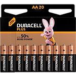 Piles alcalines Duracell Plus Power AA 20 Unités