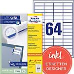 Étiquettes universelles AVERY Zweckform 3667 200 A4 Blanc 48,5 x 16,9 mm 220 Feuilles de 64 Étiquettes