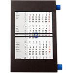 Calendrier de table trimestriel Simplex Simply noir 11 x 18 cm