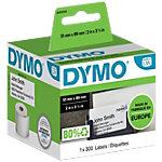 Étiquettes DYMO S09291010 89 x 51 mm Blanc 300 Étiquettes