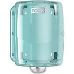 Distributeur à Dévidage Central blanc et turquoiseTork W2, design compact, gamme performance, 44,7 cm x 32,8 cm x 30,2 cm, 653000