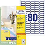 Étiquettes universelles mini AVERY Zweckform L7632 25 Blanc 35,6 x 16,9 mm 25 Feuilles de 80 Étiquettes