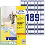 Mini étiquettes Avery L7658 25 Blanc 25,4 x 10 mm 25 Feuilles de 189 Étiquettes