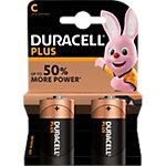 Piles alcalines Duracell Plus Power C 2 Unités