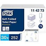 Papier toilette Tork T3 Premium 2 épaisseurs 30 Unités de 252 Feuilles