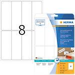 Étiquettes repositionnables HERMA 8326 Blanc Rectangulaires 200 Étiquettes par paquet 8326
