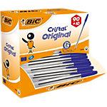 Stylos bille BIC Value Pack Cristal® Bleu 90 + 10 GRATUITS 100 Unités