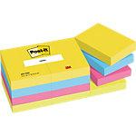 Notes Post it 51 x 38 mm Couleurs Energie 12 Blocs de 100 Feuilles