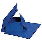 Farde 3 rabats Biella 0178401.05 A4 Bleu Carton 23.5 x 32 cm