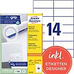 Étiquettes universelles AVERY Zweckform 3653 200 Blanc 105 x 42,3 mm 220 Feuilles de 14 Étiquettes