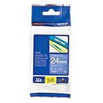 Ruban d'étiquettes Brother TZe 555 Blanc sur Bleu 24 mm x 8 m 1  de 8 m
