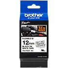Ruban d'étiquettes Brother TZEFX231 Noir sur Blanc 12 mm x 8 m