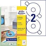 Étiquettes CD AVERY Zweckform L6015 25 A4 Blanc 25 Feuilles de 2 Étiquettes