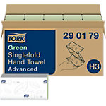 Essuie mains Tork H3 Advanced 2 épaisseurs Pliage en V Vert 15 Unités de 250 Feuilles