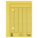 Enveloppes Office Depot Circulation A4 Jaune Papier Manila 2 trous et impression frontale 22 x 31.8 cm 100 Unités