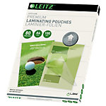 Pochette de plastification Leitz Brillant 2 x 80 microns Transparent 100 Unités
