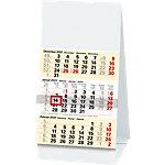 Calendrier de bureau Simplex 3 mois par page 2022 Blanc