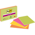 Notes adhésives Post it 101 x 152 mm Jaune, orange, vert, rose 4 Unités de 45 Feuilles
