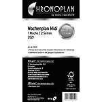 Planning hedomadaire Chronoplan Black & White Edition Midi 1 Semaine sur 2 pages 2021 Blanc