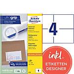 Étiquettes universelles AVERY Zweckform 6133 Blanc 105 x 74 mm 200 Feuilles de 4 Étiquettes