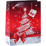 Sacs cadeaux Sigel Noël Rouge, blanc 157 g