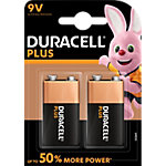 Piles alcalines Duracell Plus Power 9V 2 Unités