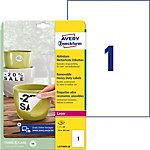 Étiquettes amovibles AVERY Zweckform L4775REV 20 A4 Blanc 210 x 297 mm 20 Feuilles de 1 Étiquettes