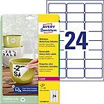 Étiquettes repositionnables Avery L4773REV 20 Blanc 63,5 x 33,9 mm Rectangulaire 20 feuilles de 24 étiquettes