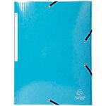 Chemise à 3 rabats à élastique Exacompta Iderama A4+ Bleu Carte lustrée pelliculée 24 x 0.2 x 32 cm