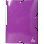 Farde à 3 rabats à élastique Exacompta Iderama A4+ Violet Carte lustrée pelliculée 24 x 0,2 x 32 cm