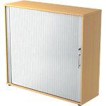 Armoire à portes rideaux Hammerbacher Portes rideaux Argenté, imitation hêtre 1200 x 400 x 1100 mm