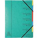 Trieur Exacompta 54073E A4 Vert Carte 24 x 32 cm
