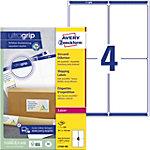 Étiquettes d'adresse AVERY Zweckform L7169 100 A4 Blanc 139 x 99.1 mm 100 Feuilles de 4 Étiquettes