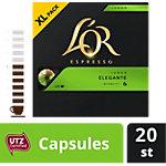 Capsules de café Lungo Élégante L'OR 20 Unités de 5.2 g