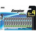 Piles alcalines Energizer LR03 AAA 12 unités