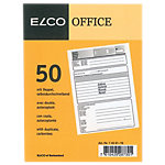 Bulletin de quittance Elco Office Assortiment A6 50 feuilles