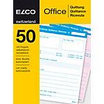 Bloc Reçus Elco Office assortiment A6 50 feuilles
