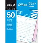 Bloc autocopiant Elco Factures A6 100 feuilles