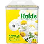 Papier toilette Hakle Kamille 3 épaisseurs 24 Rouleaux de 150 Feuilles