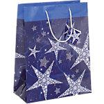 Sacs cadeau Sigel Étoiles brillante Violet, bleu 157 g