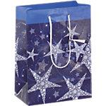 Sacs cadeau Sigel Étoiles brillante Bleu, Blanc 157 g