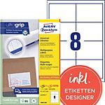 Étiquettes universelles AVERY Zweckform 3660 200 A4 97 x 67,7 mm 220 Feuilles de 8 Étiquettes