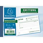 Formulaires de reçus Exacompta SD021 Blanc, jaune A6 40 feuilles