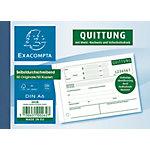 Formulaires de reçus Exacompta SD121 Blanc, jaune A6 50 feuilles