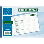 Formulaires pour congé Exacompta SD045 blanc, jaune A5 40 feuilles