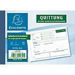 Formulaires de reçus Exacompta Blanc A6 50 feuilles
