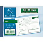 Formulaires de reçus Exacompta Qu615 Blanc A6 14,8 x 0,8 cm 50 feuilles