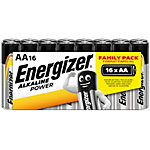 Piles alcalines Energizer Alkaline Power AA 16 Unités