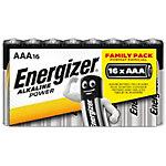 Piles alcalines Energizer Alkaline Power AAA 16 Unités